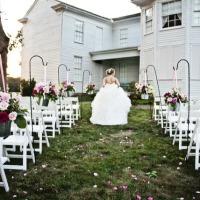bride at barn wedding