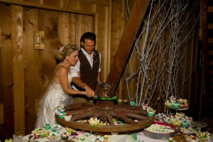 cut the cake barn wedding
