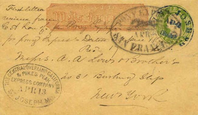 First_Eastbound_Pony_Express_Apr3_1860 - Wikimedia