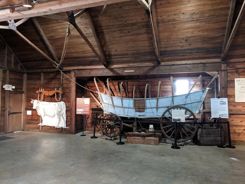 Wagon room, showing blue wagon